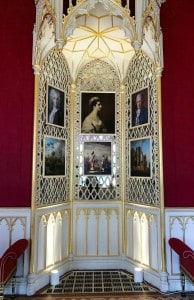 One of the gold ornate recesses in the Gallery in Strawberry Hill House