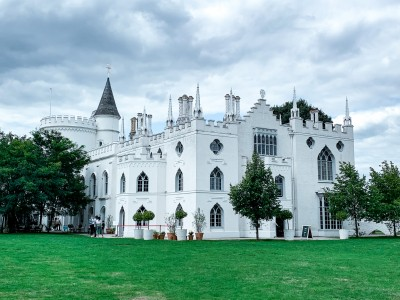 The outside of Strawberry Hill House - a perfect day trip from London by train
