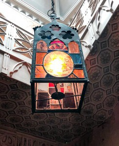 An ornate lantern in Strawberry Hill House
