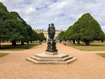 Part of the Great Fountain Garden that you can walk around on a day trip to Hampton Court Palace