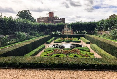 Part of the gardens that you can see on a day trip to Hampton Court Palace