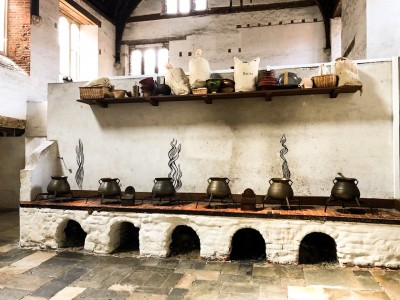 Inside the kitchens at Hampton Court