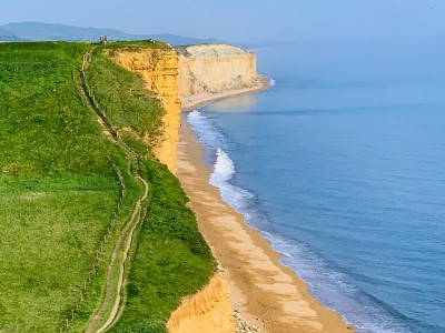 A view of part of the coastal path when you climb the cliff in West Bay Dorset
