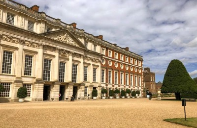 An image of the East Front at Hampton Court Palace