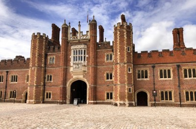 A view of the West Gate at Hampton Court Palace