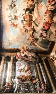 Some of the ceiling and wall decorations at Hampton Court Palace