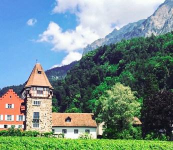 The Red House in Vaduz in Liechtenstein