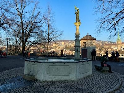 Zurich's open-air Lindenhof area