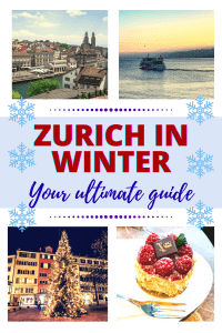 A pin for this blog - Zurich in winter: your ultimate guide