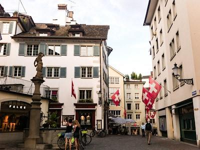Part of Zurich's old town