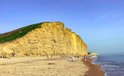 A view of the cliff on East Beach in West Bay Dorset