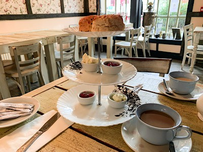 Our cream tea in the Clarence Brasserie and Team Room - enjoy one yourself on a day trip to Windsor