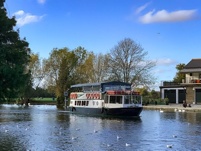 A boat on the river - you can take a boat tour on a day trip to Windsor