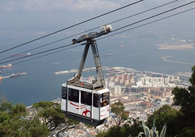The cable car in Gibraltar - one of the top things to do in Gibraltar