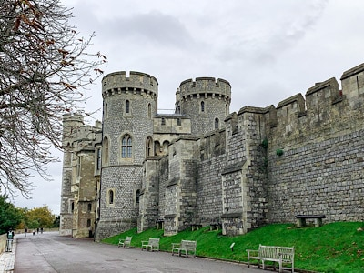 Part of the side of Windsor Castle that you can wander around on your day trip to Windsor