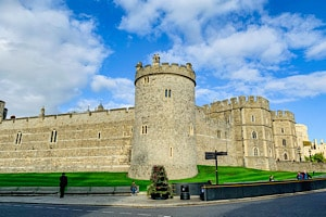The outside of part of Windsor Castle from the High Street - see this on a day trip to Windsor