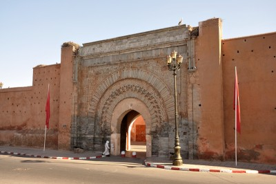 A view of the Bab Agnaou Gate in Marrakech