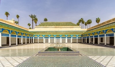 The Court of Honour in the Bahia Palace Marrakech