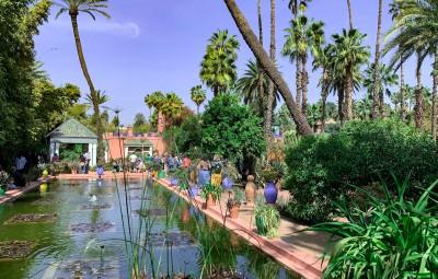 The beautiful Majorelle Garden Marrakech