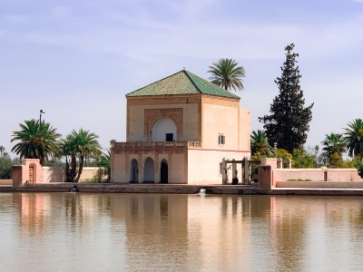 The pavilion at the Menara Gardens  in Marrakech - this is a top place to visit on your 3 days in Marrakech