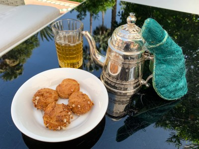 Moroccan tea and biscuits