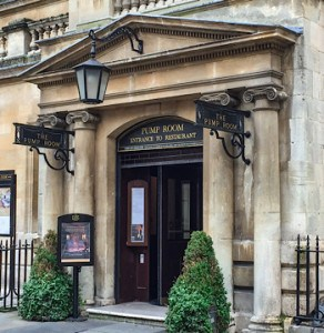 The outside of the Pump Room Restaurant in Bath - somewhere to go on your weekend in Bath