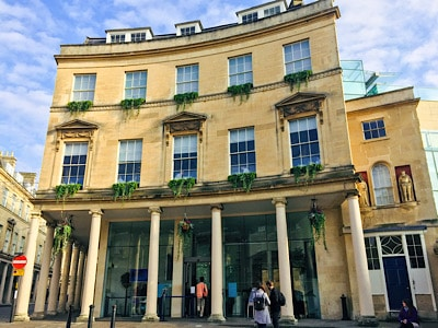 The outside of the Thermae Bath Spa - this is a must on a weekend in Bath