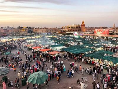 The market in Marrakech's main square