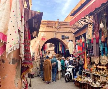 Part of the souks in Marrakech