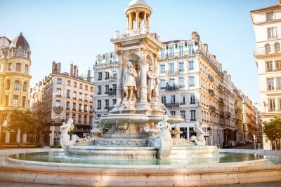 The fountain in the Place des Jacobins Lyon