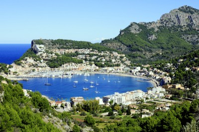 A view of the Port de Soller Spain