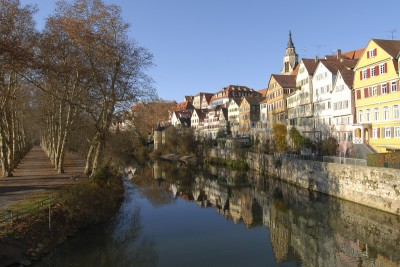 Tubingen by the river and the Plantanenalle