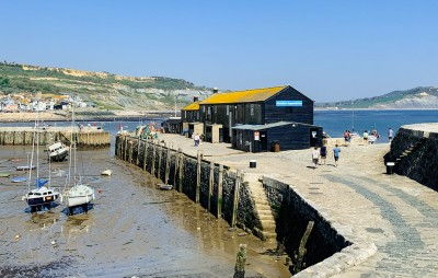 The aquarium in Lyme Regis at the end of the The Cobb and next to the harbour and boats - a visit here is one of the things to do in Lyme Regis