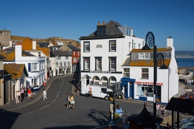 Part of the bottom end of the town in Lyme Regis