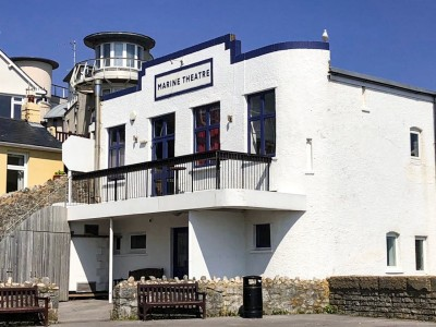 The outside of the Marine Theatre in Lyme Regis