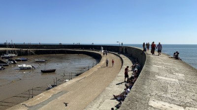 Walking on The Cobb Lyme Regis - this is one of the key things to do in Lyme Regis