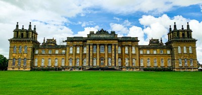 The outside of Blenheim Palace