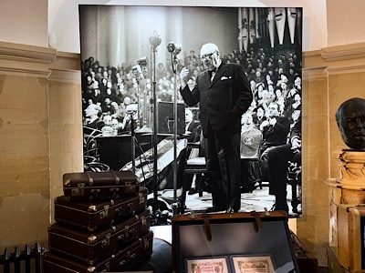 An image of Churchill in the Churchill exhibition