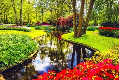 The Keukenhof Gardens in Holland