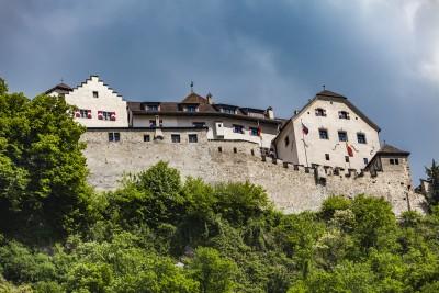 Vaduz castle from the city centre