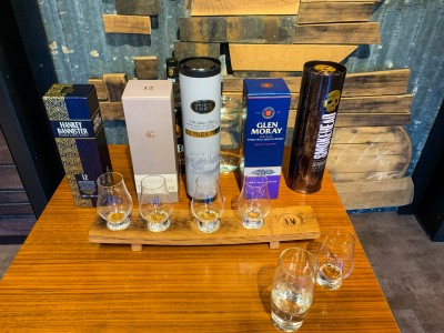 The 5 different types of whisky we tried during our whisky tasting in Edinburgh