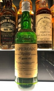 Laphroaig whisky, part of the world's largest collection