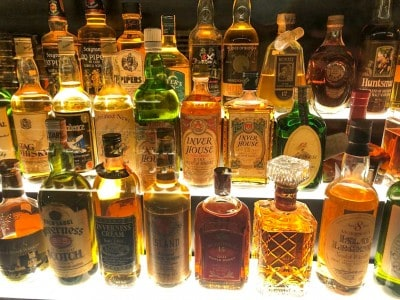 Some of the whiskies you can see as part of your whisky tour Edinburgh