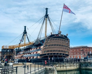 HMS Victory, one of the Portsmouth attractions you can see in Portsmouth Historic Dockyard