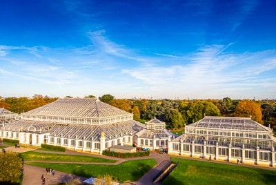 An aerial view of the Temperate House at Kew Gardens
