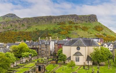 A view across to Arthur's Seat in Edinburgh