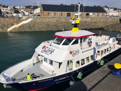 The boat to Sark that you can catch from the harbour in St Peter Port