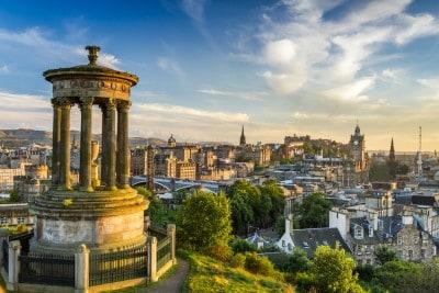 The view across Edinburgh from Calton Hill
