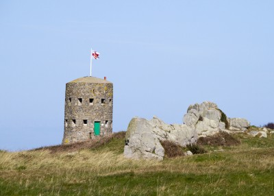 A loophole tower that you can see in Guernsey - one of the things to do in Guernsey