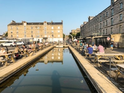 Commercial Quay in Leith - visit as part of your 3 days in Edinburgh